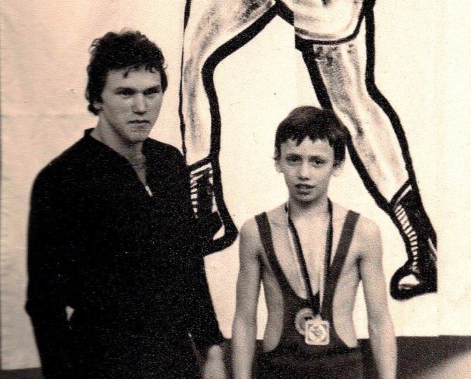 Helmut Stahl mit einem seiner Schützlinge